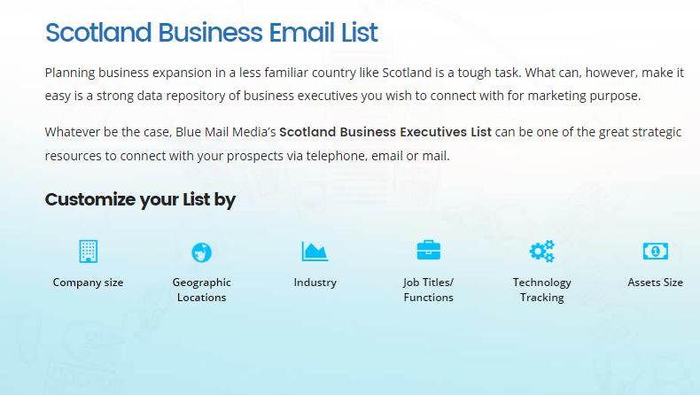 Scotland Business Mailing List Scotland Business Email List