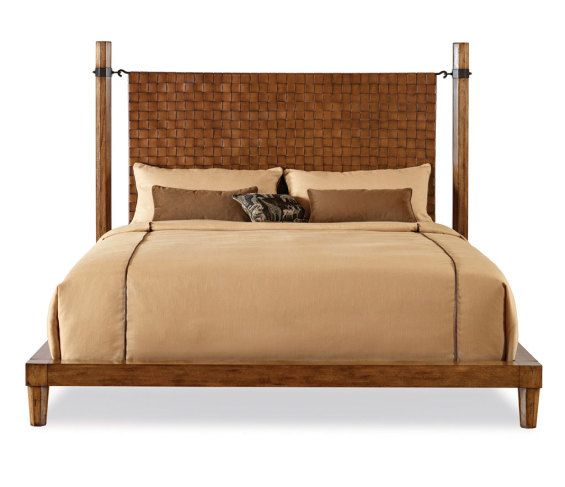 The Crofters King Bed By Thomas Gray Features Woven Leather