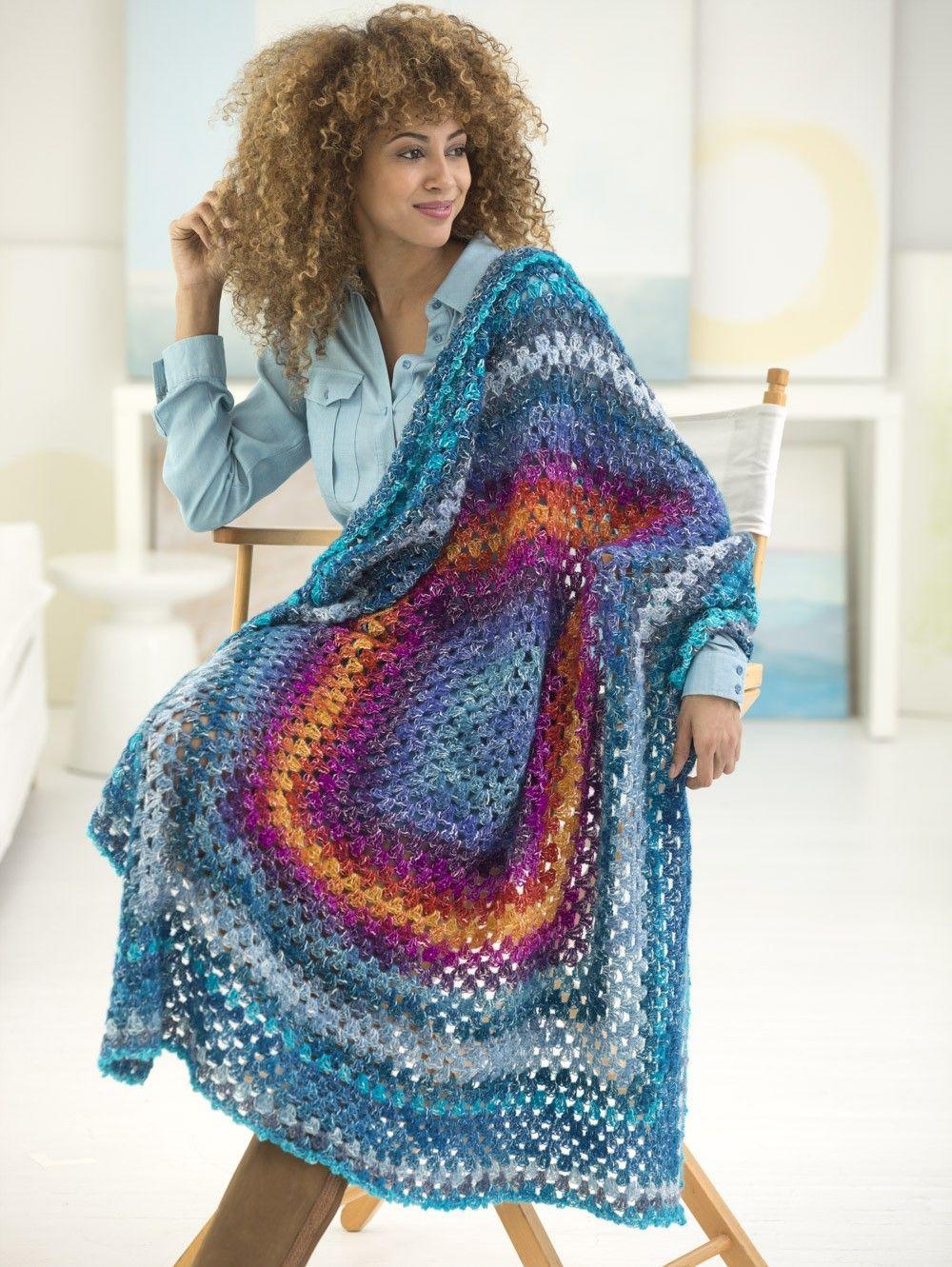 Granny Afghan/Shawl (Crochet), Shawl in a Ball yarn. Free pattern ...