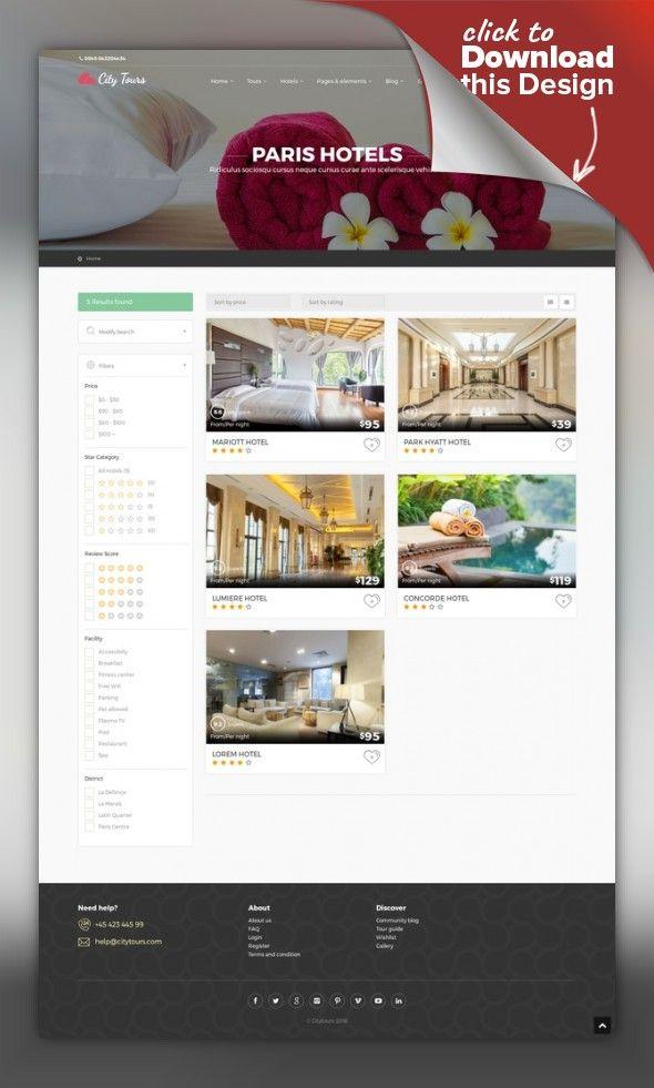 CityTours - Hotel & Tour Booking WordPress Theme | Book themes ...