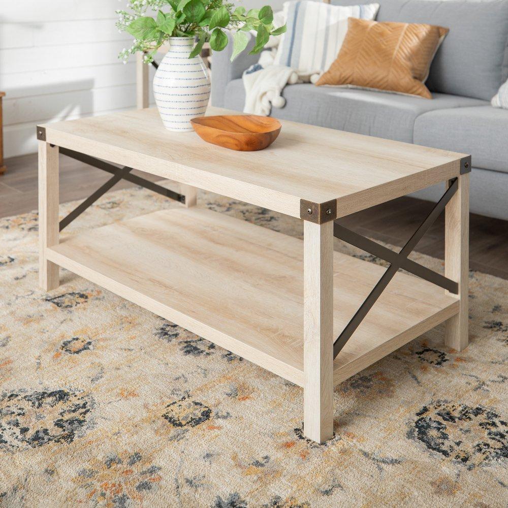 Rustic Wood Coffee Table White Oak Bronze Rc Willey Furniture Store White Oak Coffee Table Coffee Table Wood Wood Coffee Table Rustic [ 1000 x 1000 Pixel ]