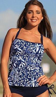 651027e90bc3d Bikinis - Vintage Tankini Bikini combo with body smoothing lining. #bikinis  #vintage #tankini