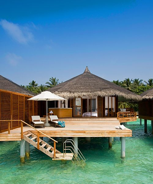 Stay At An Oceanside Cabana In The Maldives Bucket List