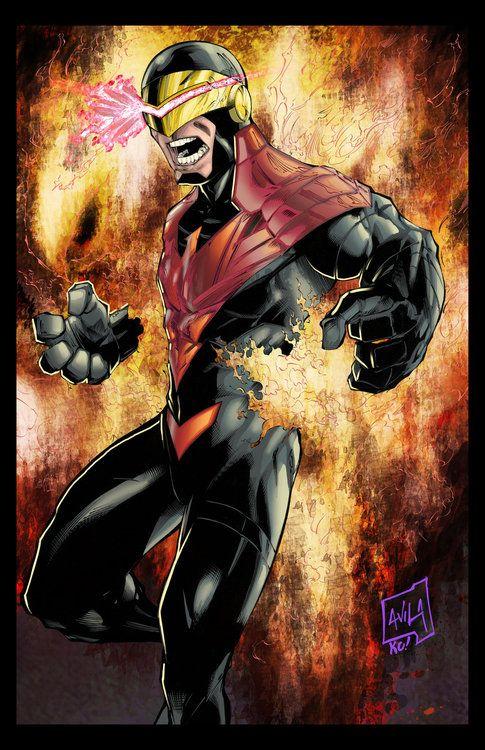 phoenix force cyclops by javier avila avx xmen mutants marvel