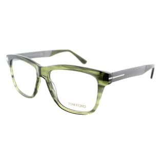 2bfbc3118f Shop for Tom Ford Unisex Striped Green and Gunmetal Plastic Rectangle  Eyeglasses. Get free shipping at Overstock.com - Your Online Accessories  Outlet Store!