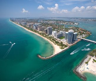 Aerial View Of Bakers Haulover Inlet Bal Harbour Florida Helicopter Tour Sightseeing Aerial View