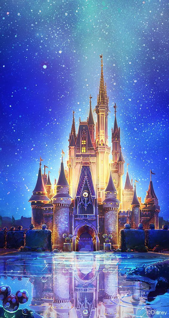 Disney And Castle Image Disney Art Wallpaper Iphone Disney Disney Castle