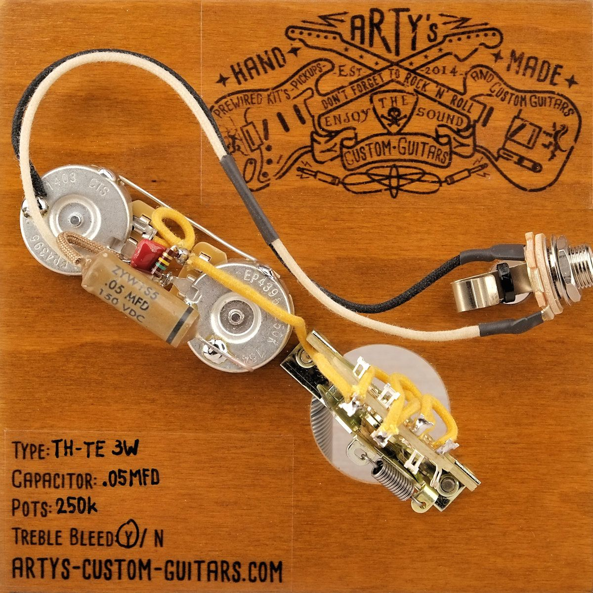Telecaster Wiring Harness Schematic Diagrams Prs Artys Custom Guitars Thinline Standard Kit Pre