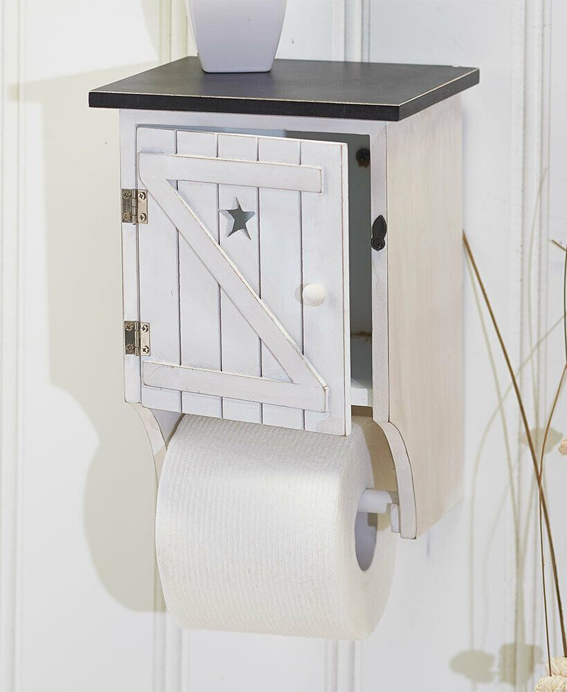 Bennington Country Cottage White Toilet Paper Cabinet Holder Tower Free Standing Toilet Paper Storage Storage Cabinets Wood Toilet Paper Holder