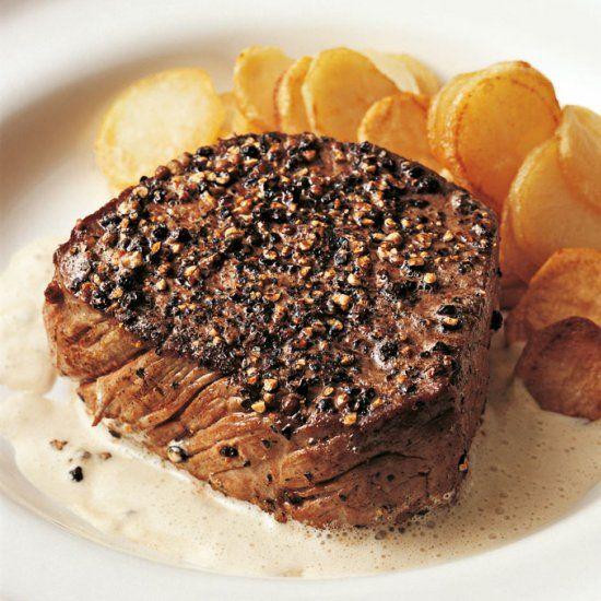 Chef paul bocuse 39 s recipe for steaks au poivre beef pinterest viande recette and gibier - Paul bocuse recettes cuisine ...