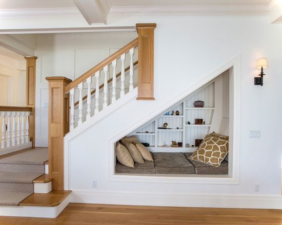 Basement Stair Landing Decorating: Stair Remodeling Ideas For Optimum Use Of Space :-)