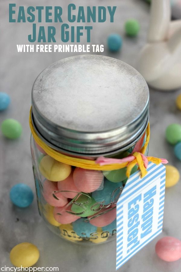 Easter candy jar gift recipe easter candy printable tags and diy easter candy jar gift with free printable tag super easy and super inexpensive easter negle Gallery