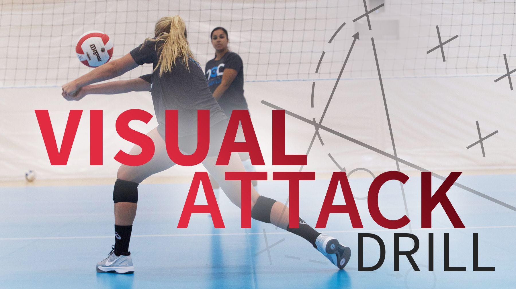 Visual Attack Drill With Jen Dejarld Volleyball Workouts Volleyball Practice Volleyball