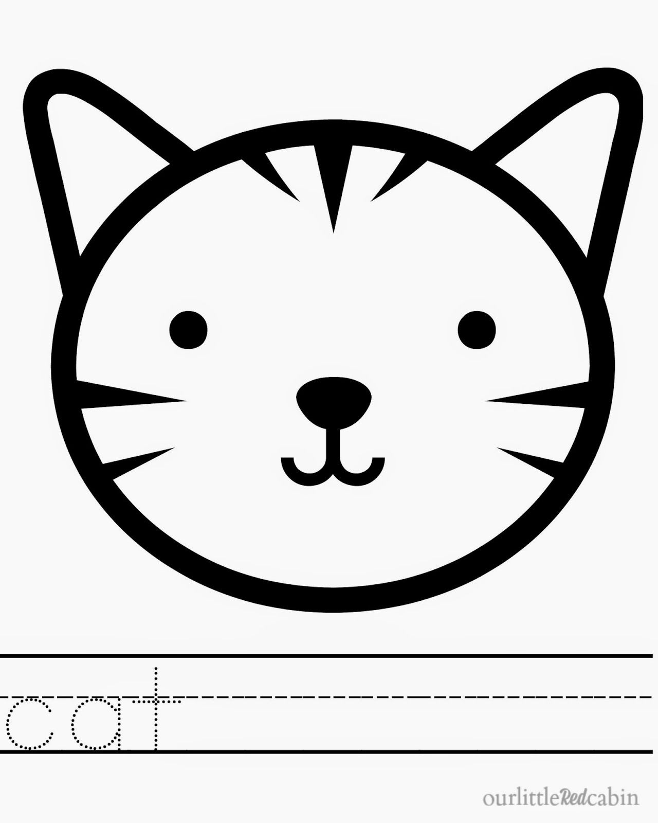 Our Little Red Cabin Animal Printing Coloring Page Free