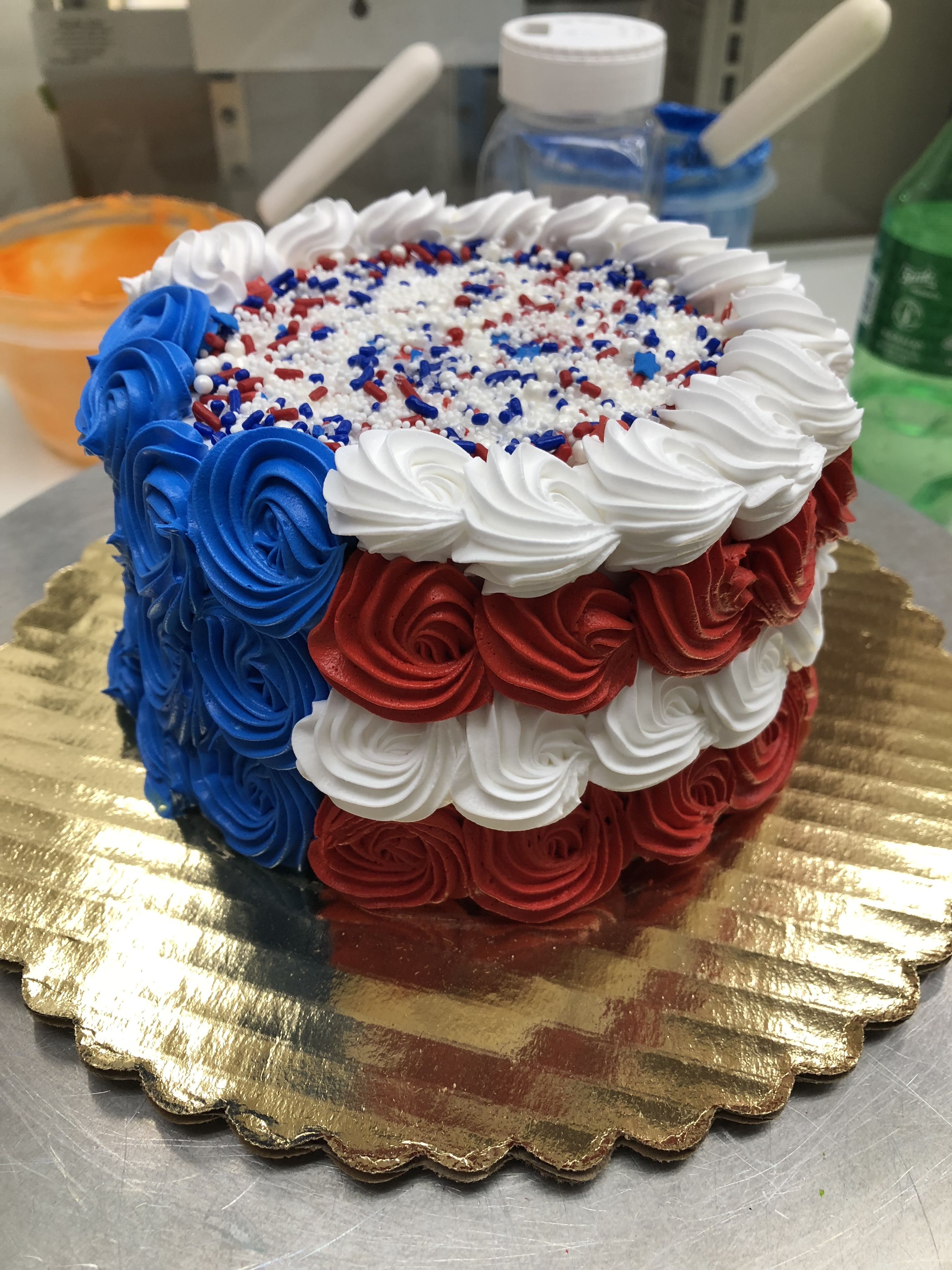 American Flag Layer Cake With Images 4th Of July Cake Fourth