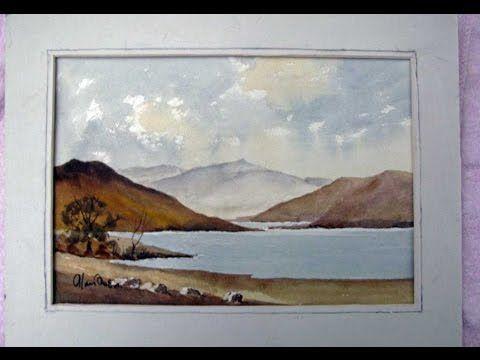 Watercoloring landscape demo with Alan Owen