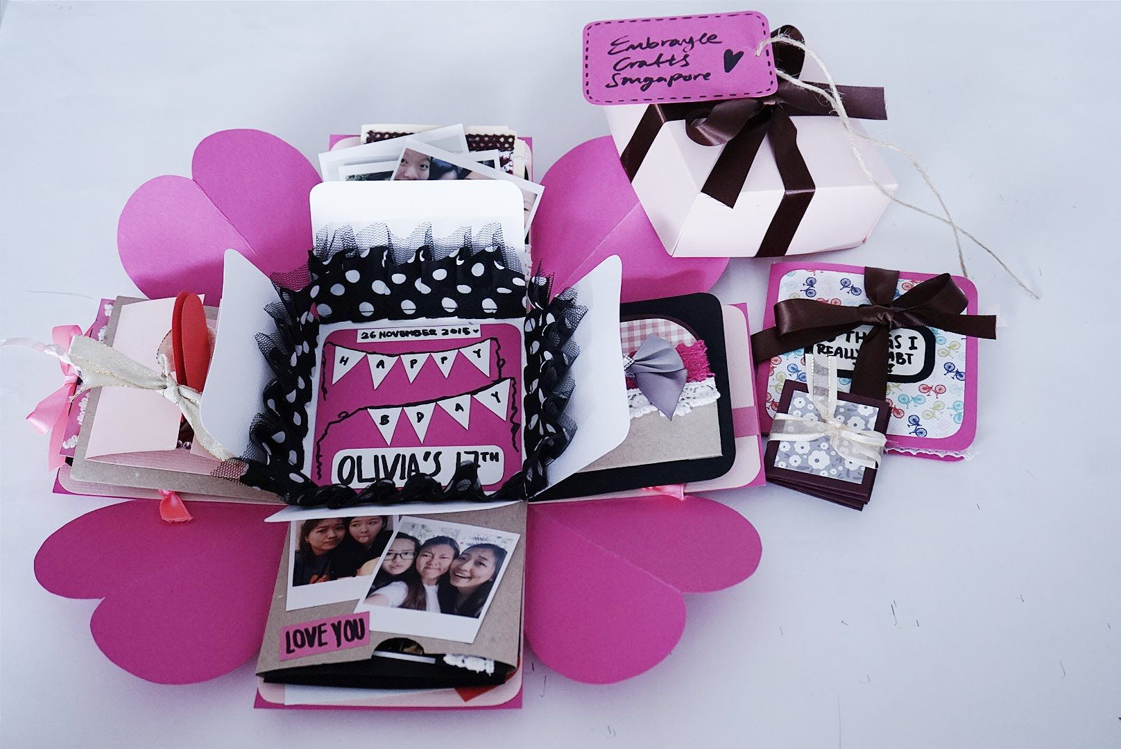 How to make scrapbook youtube - Exploding Boxcard Tutorial Heart Base Layering Making Youtube
