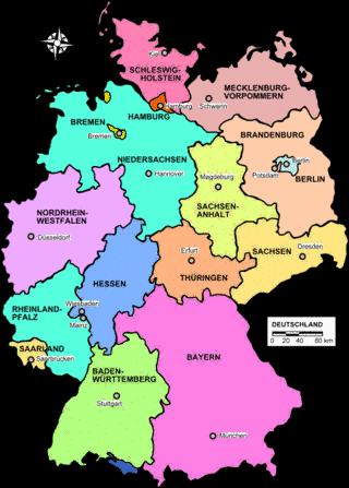 German State Map Ancestors from NordrheinWestfalen Hessen