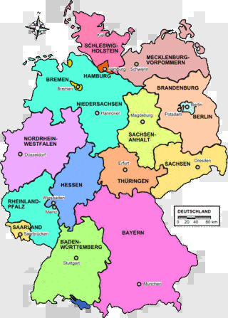 Map Of Germany With States.German State Map Ancestors From Nordrhein Westfalen Hessen