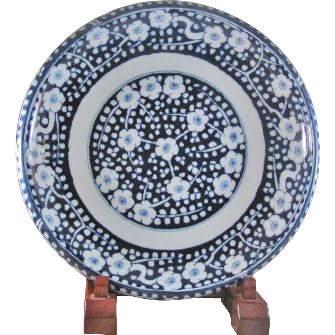 Japanese Antique Hizen ko- Imari Rare Huge Porcelain Platter by the Great Aoki 青 Family; Found at the @ManyFacesofJapan at @smeredith2504 on #RubyLane,