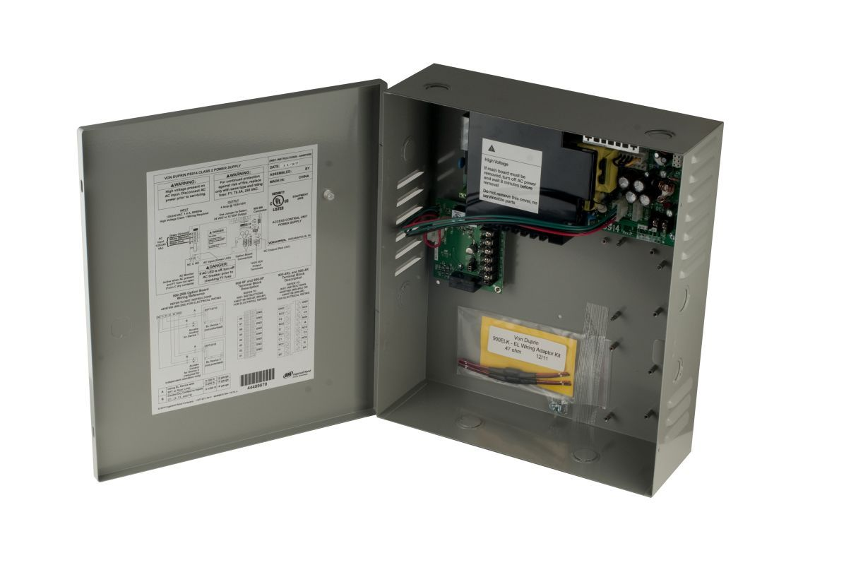 Von Duprin PS914-2RS 4 Amp Base Power Supply 12/24 VDC Field Selectable UL294 Li Exit Device Power Supply Power Supply