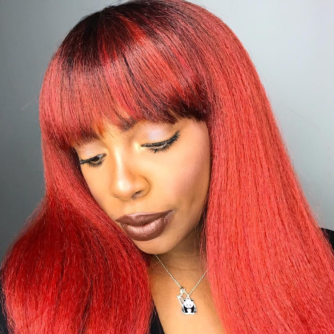 Red Hair Makeupbysimpleejessicar Outrehair Quick Weave
