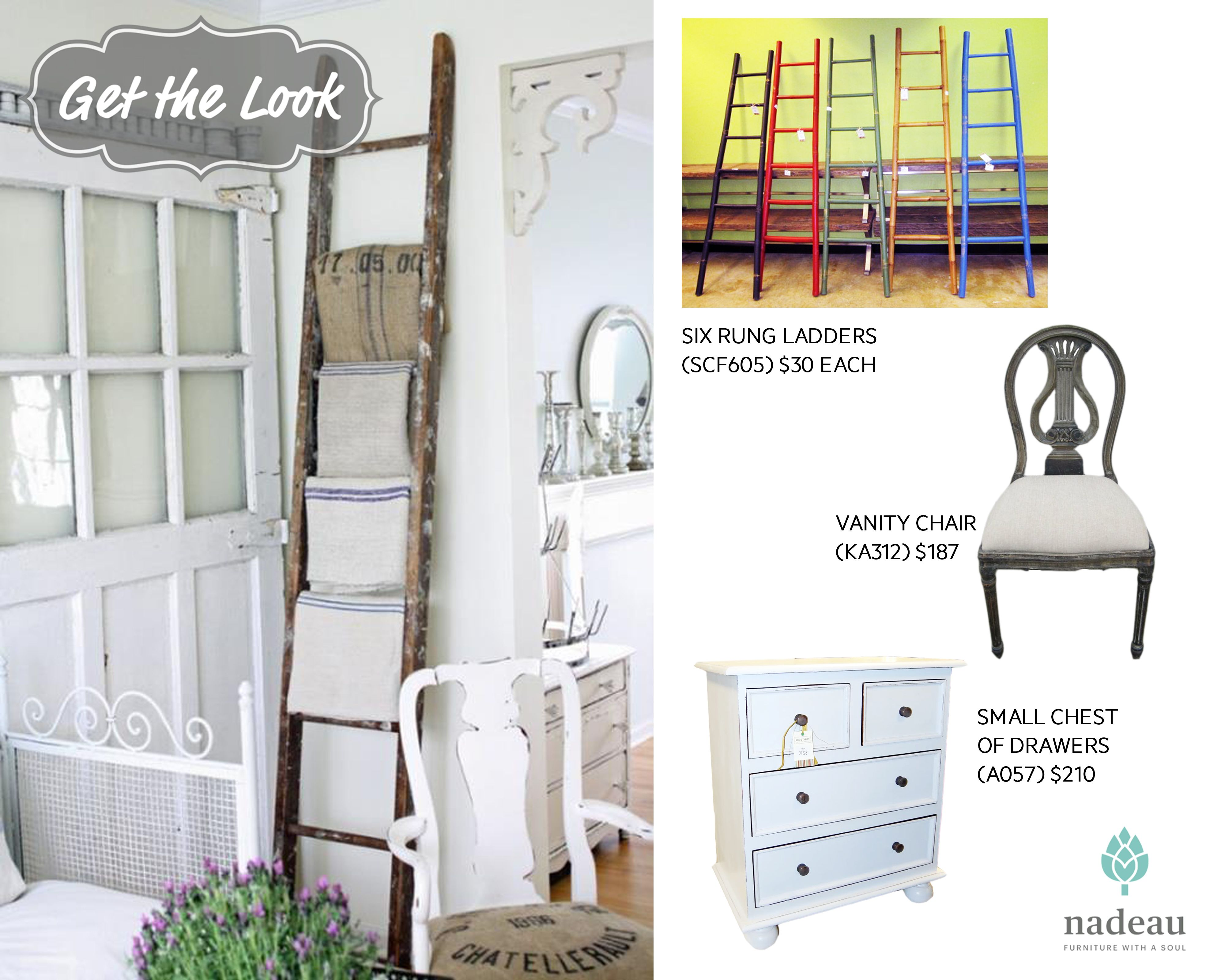 Think creatively with your Furniture. At Nadeau anything