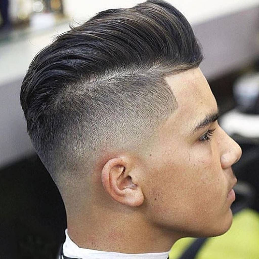 undercut fade hairstyle men disconnected undercut hairstyle