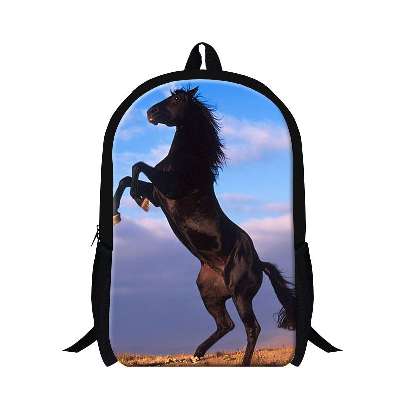 New designer horse backpacks for teen boys,students back pack ...
