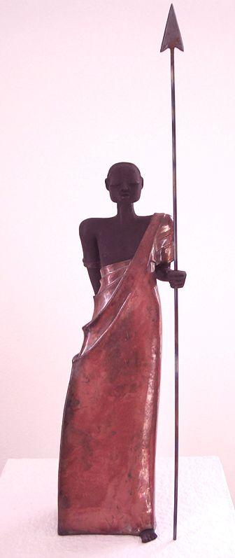 Krieger Raku Skulptur von Margit Hohenberger Raku Pinterest - figuren aus ton selber machen