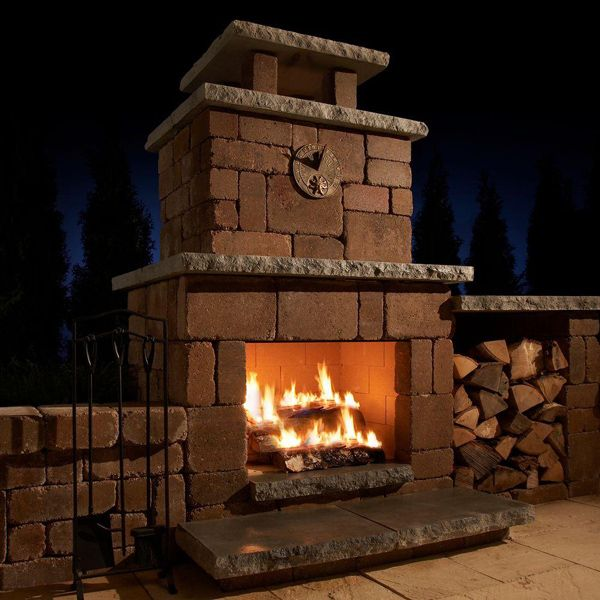 Necessories Santa Fe Compact Outdoor Fireplace Garden Club Fireplace Kits Outdoor