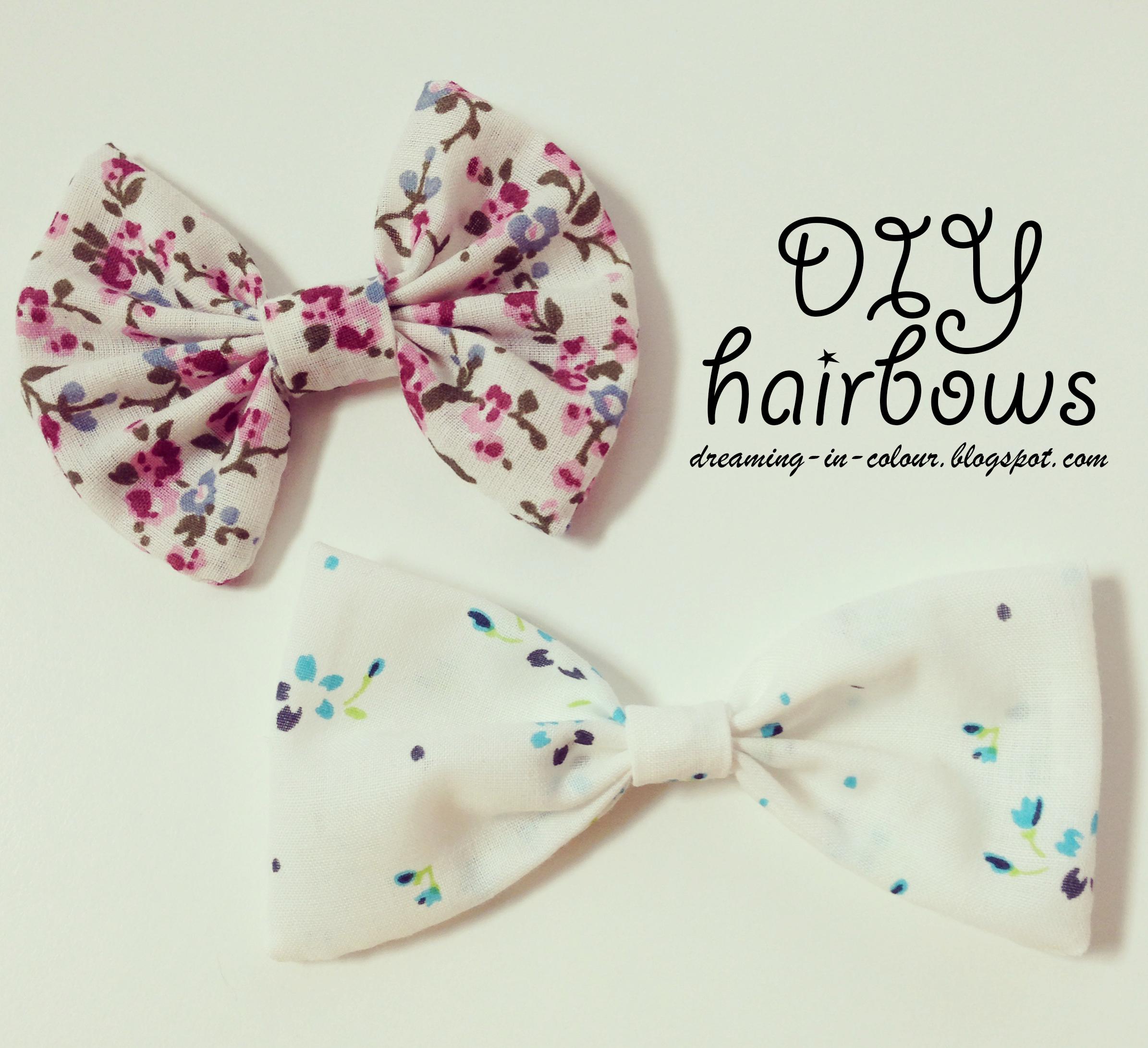 diy hair bows tutorial - sew or glue with fabric