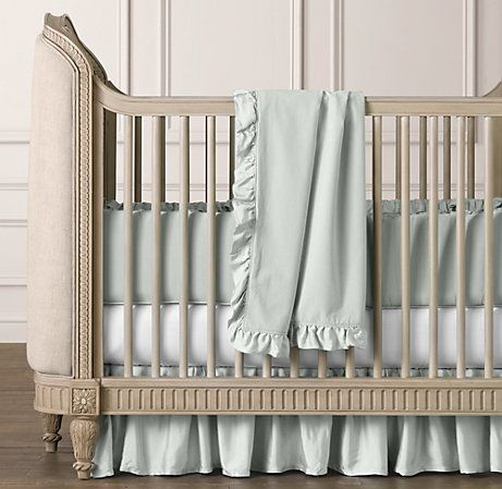 Washed Velvet Three Piece Crib Bedding Set Baby Rinks