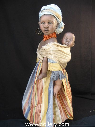 Susan Krey Collectible Dolls...Jola and Bush baby