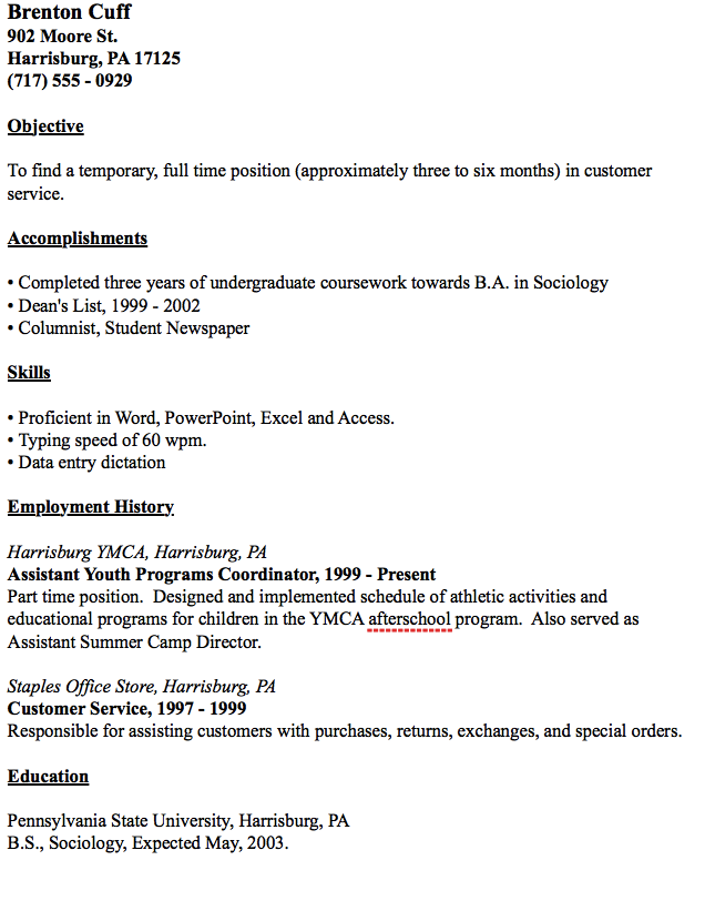 Temp Worker Resume Example - http://resumesdesign.com/temp-worker ...