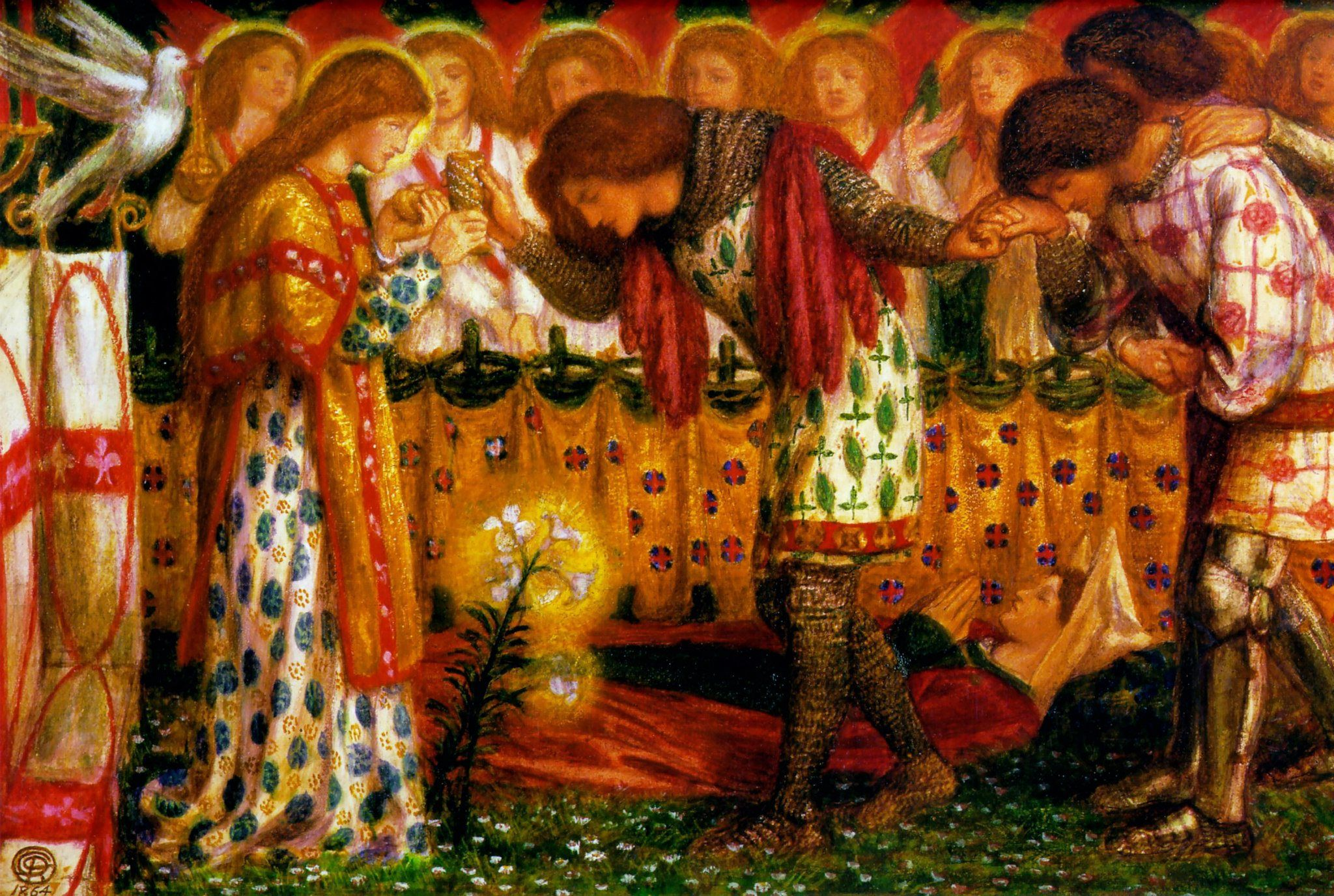 pre-raphaelite writing an anthology of madness