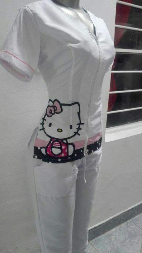 Uniforme blanco hello kitty  c32e21b24162