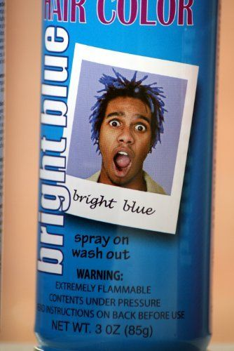 be774d04c87 Spray On Wash Out Blue Hair Color Temporary Hairspray Great For Costume or Halloween  Party Concert