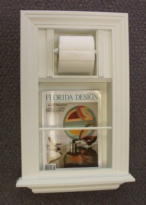 Bathroom With Magazine Holder In Wall