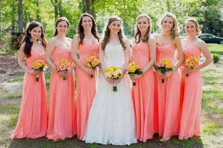 Cool Pastel Coral Bridesmaid Dresses 2018 2019