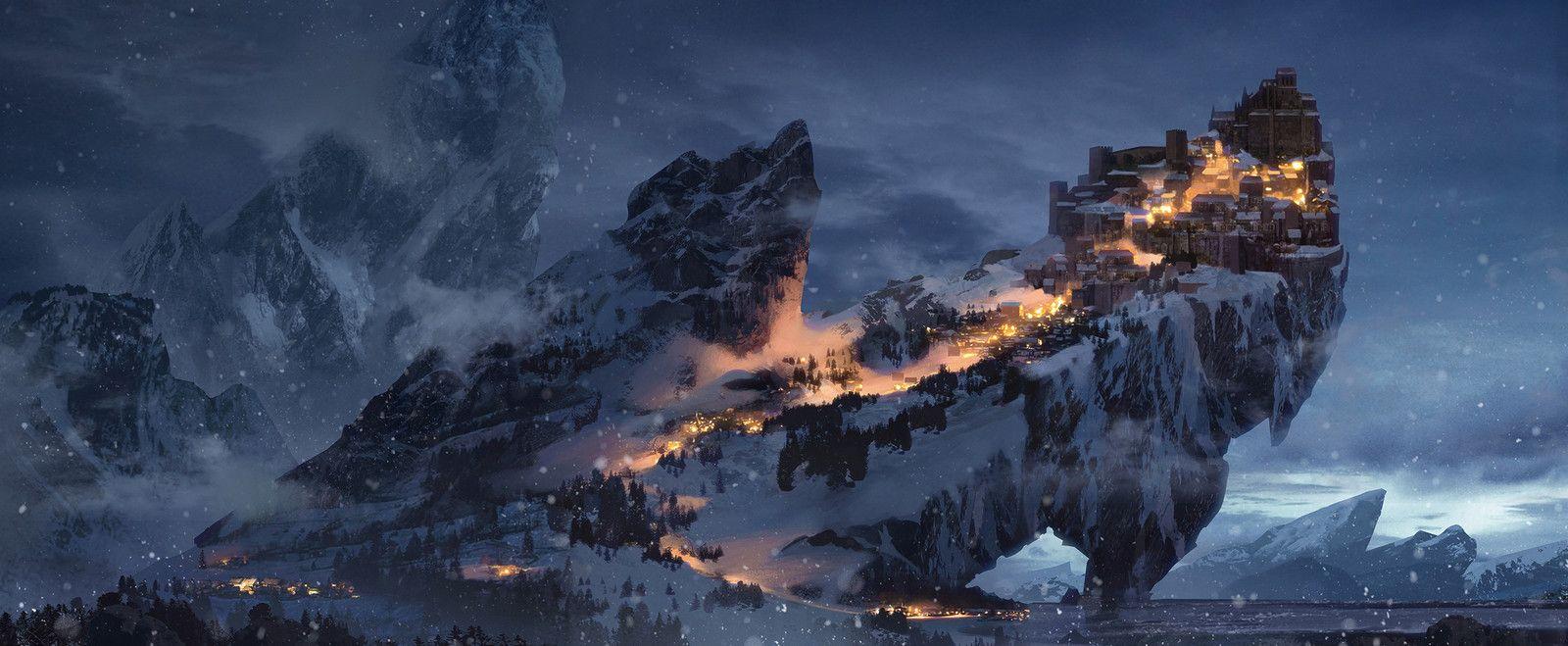 Winter Keep, Bram Sels on ArtStation at https://www.artstation.com/artwork/JnzXn