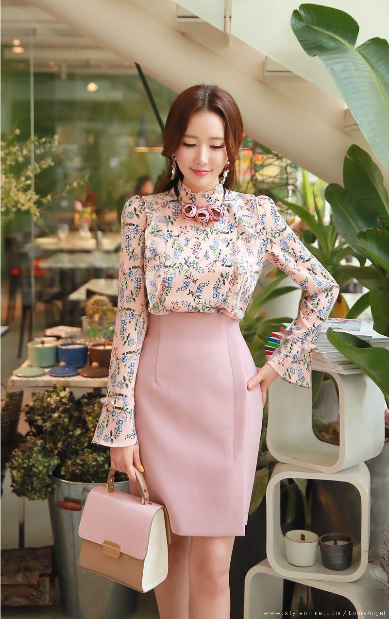 Front Slit Wrap Style Pencil Skirt | Trajes de trabajo, Vestidos ...