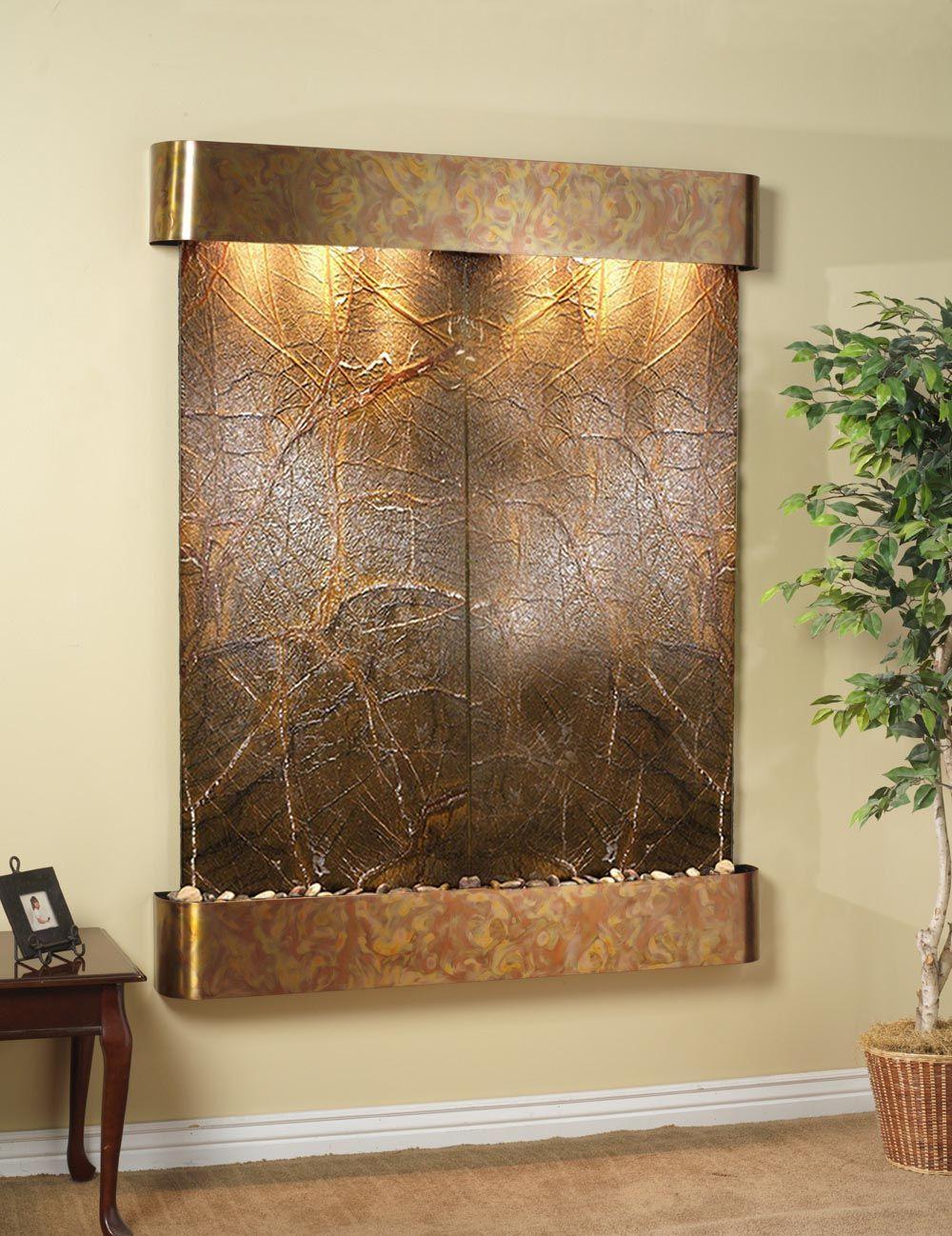 waterfall indoor fountain indoor fountains pinterest. Black Bedroom Furniture Sets. Home Design Ideas