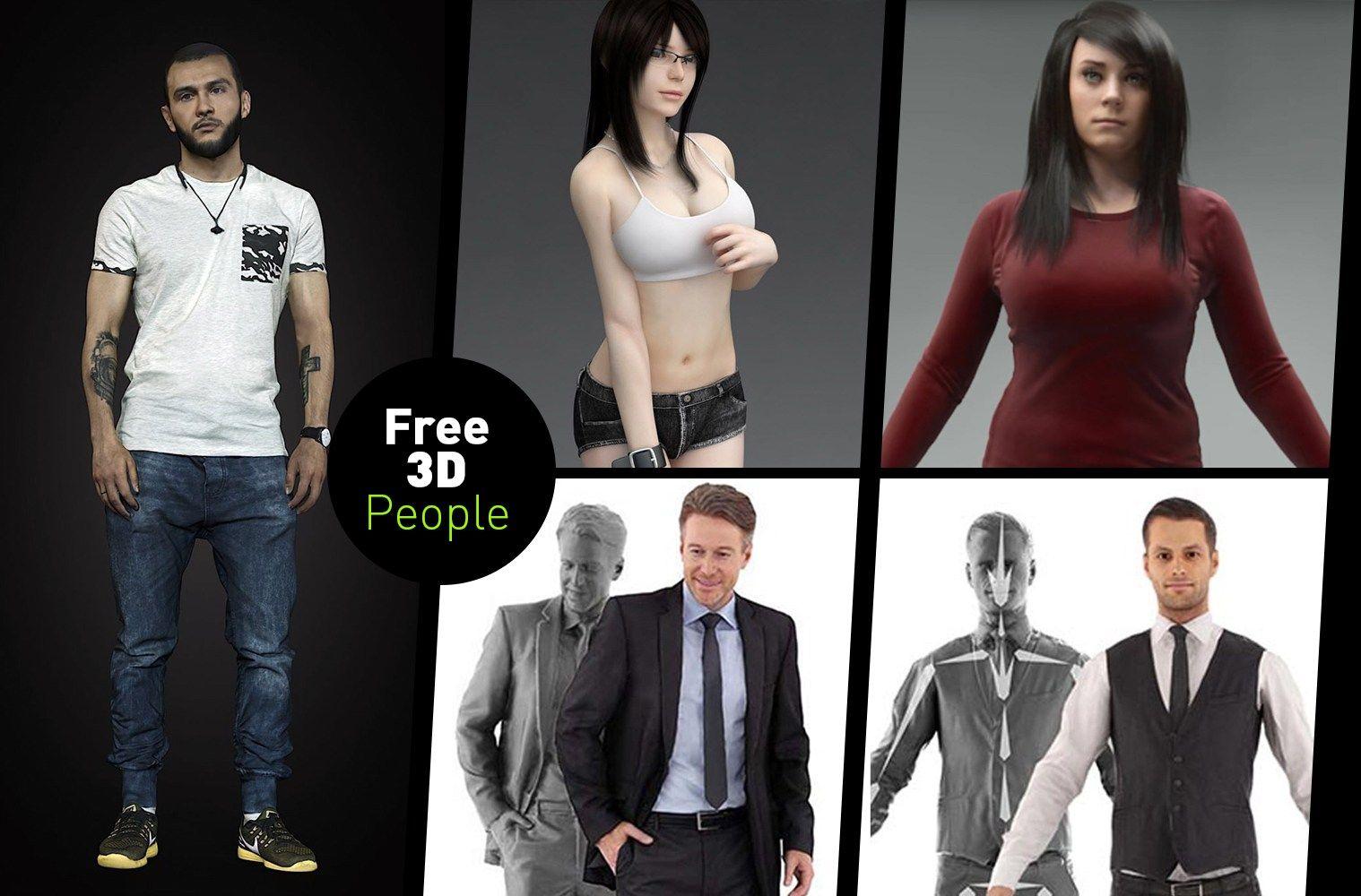 3D Scan Man Woman Free 3D Model | 3D Models | Model, Character