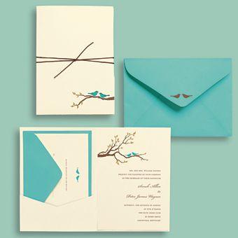 Beautiful Wedding Invitations U0026 Stationery Ideas. Love Birds ...