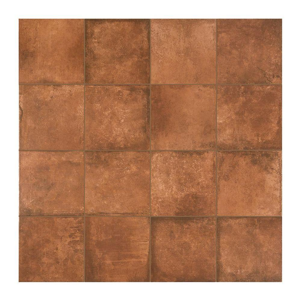 Marazzi Studio Life Black Terracotta 12 In X 12 In Glazed Porcelain Floor And Wall Tile 14 55 Sq Ft Case Sl471212hd1p6 The Home Depot In 2020 Porcelain Flooring Flooring Porch Tile