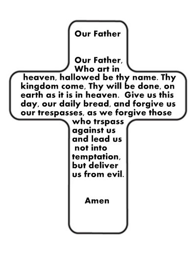 our father coloring page