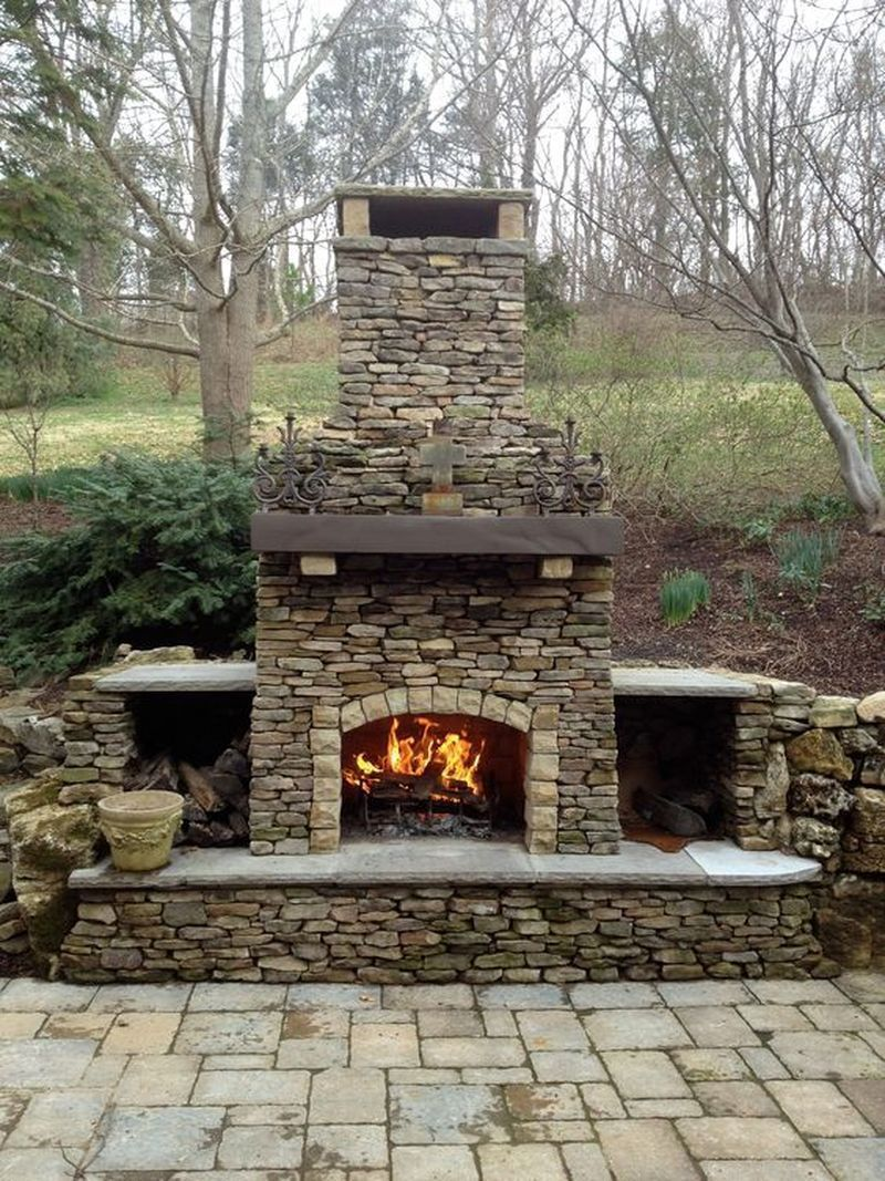 Best No Cost Outdoor Fireplace Gas Style Regardless How Much People Pattern Your Hou In 2020 With Images Outdoor Fireplace Patio Outdoor Stone Fireplaces Outdoor Fireplace Designs