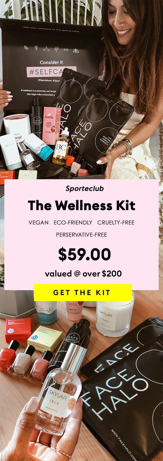 Join the Wellness kit, Makeup bag essentials