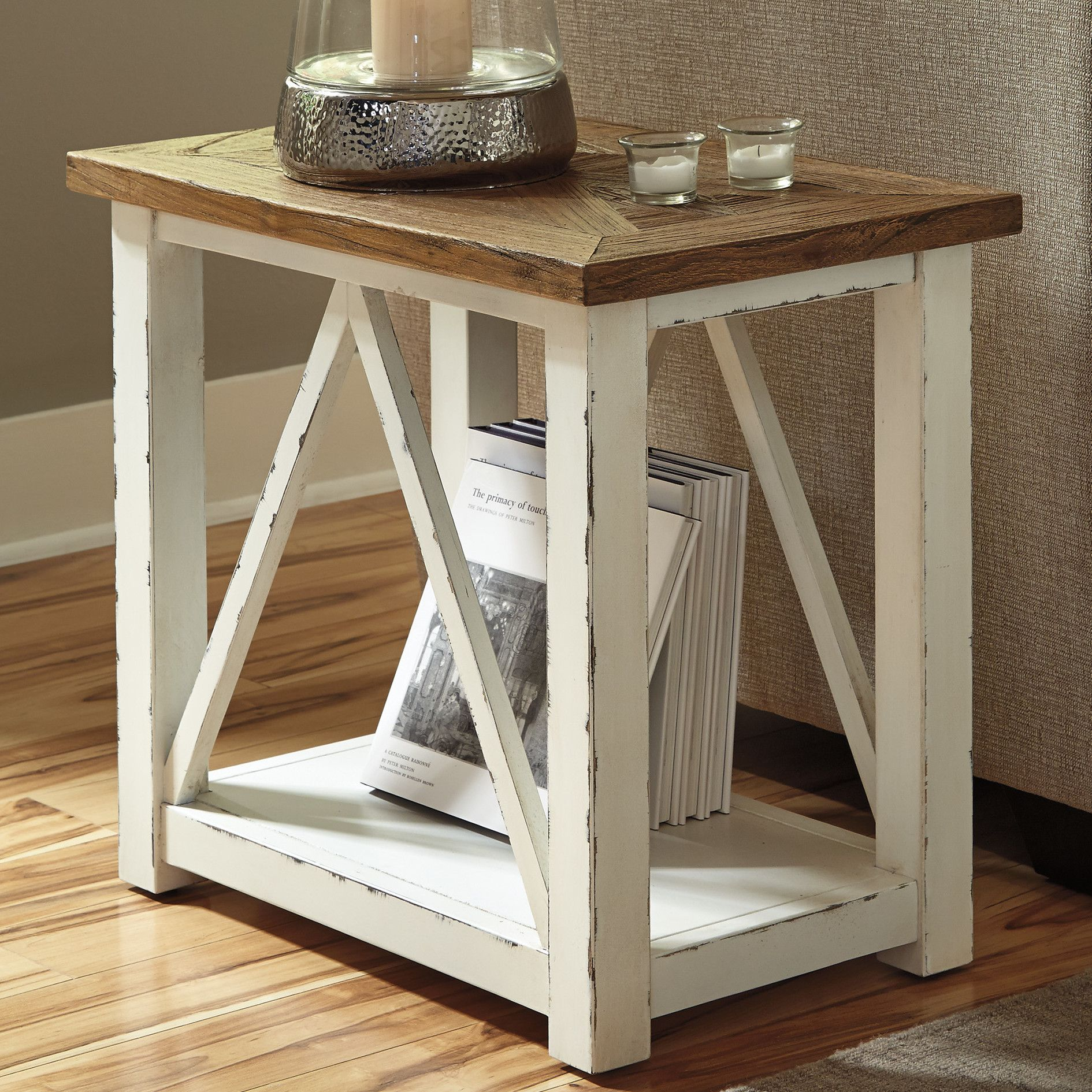 Signature design by ashley marshone rectangle end table reviews wayfair home decorating Accent tables for living room
